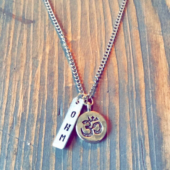 handmade Jewelry - Hand stamped ohm necklace